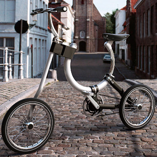 椭圆滑轨车架:台湾设计师 推出创意折叠自行车 Somerset