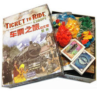 车票之旅欧洲版 中文版Ticket To Ride中文经典聚会游戏 铁老大原型桌面游戏