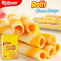 richeese丽芝士芝心棒180g奶酪味 印尼纳宝帝rolls注夹心威化饼干