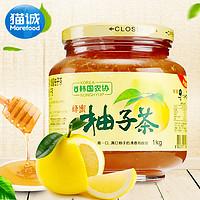 包邮 韩国进口 韩国农协蜂蜜柚子茶1000g 进口蜜炼柚子茶果茶冲饮