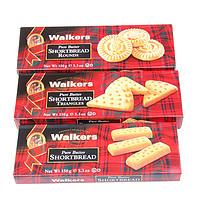 英国原装进口 Walkers沃尔克斯黄油饼干 圆形 三角 指形 3盒混装