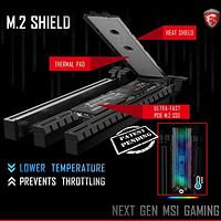 解决M.2发热问题:msi 微星 推出 Gaming M.2 Shield 散热片