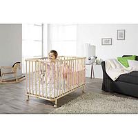Geuther德国原装进口榉木实木易折叠移动婴儿床mayla