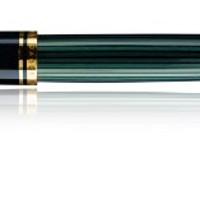 Pelikan 985739 Kolbenfüllhalter Souverän M 400 Bicolor-goldfeder 14-K/585 Federbreite M, 1 Stück, schwarz/grün: Amazon.de: Bürobedarf & Schreibwaren