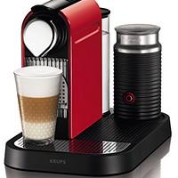 Amazon.de: Krups XN 7305 Kapselmaschine Nespresso New Citiz und Milk / 1 L Wasserbehälter / mit Aeroccino / fire-engine rot