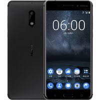 【预售】诺基亚6 (Nokia6) 4GB+64GB 黑色 全网通 双卡双待 移动联通电信4G手机