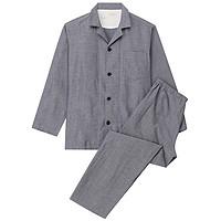 无印良品 MUJI 男式 睡衣无侧缝 双层纱织