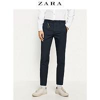 ZARA 男装 纹理紧身休闲裤 07618450400