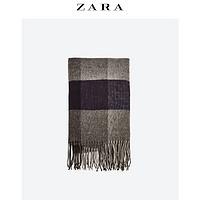 ZARA 男装 大格纹围巾 04678410802