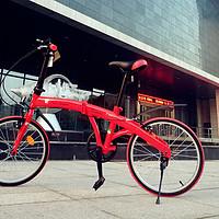 Tonino Lamborghini 兰博基尼 折叠自行车:妹子的招商银行推荐有礼兑换产品 开箱