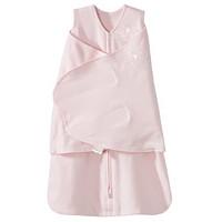 美国HALO 包裹式婴儿安全睡袋纯棉粉色NB(0-3个月)