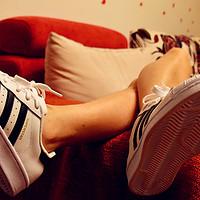 大妈值:宝贝格子有礼到-adidas 阿迪达斯 SUPERSTAR金标 板鞋 开箱&搭配