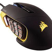 美商海盗船(USCorsair)Gaming系列 SCIMITAR RGB 执法者 多彩光学游戏鼠标 黑色
