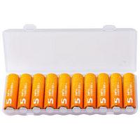 双鹿 5号电池五号碱性电池5号AA电池10粒装(橙子)儿童玩具挂钟鼠标键盘电池