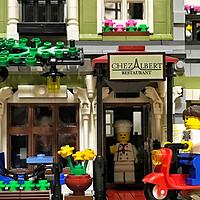 dope的乐高日记 篇四十:终入街景坑!LEGO 乐高10243 街景巴黎餐厅 拼装玩具
