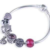 每个女生都应该有一个这样的手链:PANDORA 潘多拉  590702HV-19 基础蛇骨手链