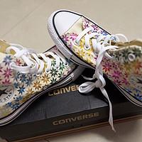 给老婆的生日礼物--Converse 匡威 高帮彩色雨点印花帆布鞋