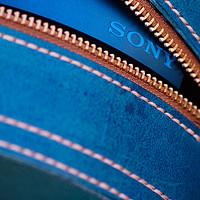 继续守护姨夫的微笑:自制植鞣染色 SONY 索尼 MDR-100AAP 头戴式耳机 收纳包过程分享