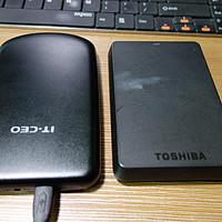 盒子的故事,晒晒用过的移动硬盘盒 篇二:TOSHIBA 东芝 V63700-C 移动硬盘换盒记