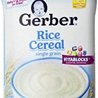 Gerber Single-Grain Rice Baby Cereal, 16 Ounce (Pack of 6)