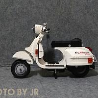 国产好玩具 篇三:爱上Vespa,星堡积木XB03002小绵羊开箱