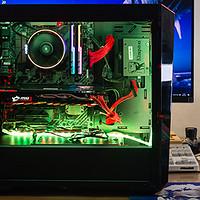 """299元机箱也有大侧透,酷冷""""睿""""机箱AMD锐龙1700微星B350战斧装机"""