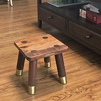 不知道啥风格的装修流水账 篇三:铜木主义胡桃木板凳