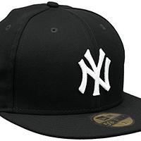 MLB 纽约扬基队击球练习59Fifty 棒球帽,海军蓝/白色 黑色 7 1/4