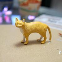 #本站首晒# 自己涂猫,自己吸~ 樱花DIY宠物模型丙烯上色套装