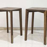 美中有不足:铜木主义黑胡桃木莫奈板凳