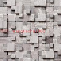 石材马赛克瓷砖大理石灰木纹文化石凹凸立体电视背景墙墙贴建材