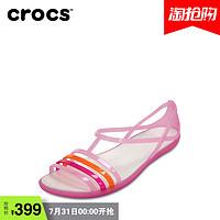Crocs卡骆驰女鞋 凉鞋女夏 伊莎贝拉夏日平底鞋休闲凉鞋 202465