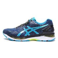 亚瑟士ASICS 2017 男 GEL-NIMBUS 18 公路缓震慢跑鞋T600N-5843紫蓝色/湖蓝色43.5码