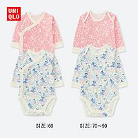 婴儿/新生儿 (UT) DPJ圆领连体装(长袖)(2件装) 402520 优衣库