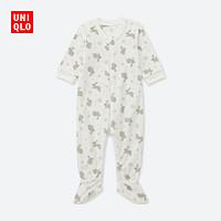 婴儿/新生儿 弹力细摇粒绒连体装(长袖) 402117 优衣库UNIQLO