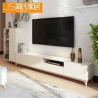 电视柜简约 北欧实木电视柜茶几组合 钢化玻璃客厅地柜卧室电视柜