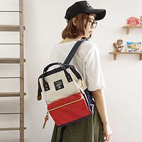 【包邮】anello 轻量小型A4帆布包书包背包双肩包女包 小号 多色可选