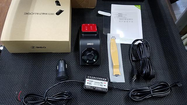 360 G300 隐藏式行车记录仪 开箱