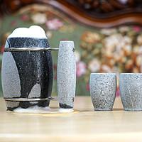 #晒单大赛#不但保冷还能保暖?石器时代:芬兰 HUKKA 330ml 滑石啤酒杯 + 烈酒清酒杯套装 晒单