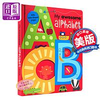 预售 英文原版 My Awesome Alphabet Book ABC 儿童字母启蒙书 纸板书 3D立体 字母书 认知启蒙英文启蒙 幼儿 0-3岁 字母大卡书