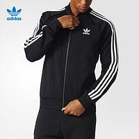 adidas 阿迪达斯 三叶草 男子 运动外套 黑 BK5921