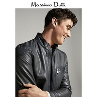 秋冬折扣 Massimo Dutti 男装 灰色纳帕革夹克 03302332802