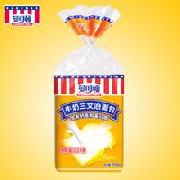 曼可顿 面包牛奶三明治 吐司切片 营养早餐 点心食品350g 蜂蜜味
