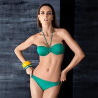 范德安(BALNEAIRE)82859 小胸钢托聚拢性感显瘦比基尼泳衣 女 分体 温泉泳装 S