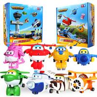 奥迪双钻 超级飞侠变形机器人益智儿童玩具滑行小飞机公仔套装迷你套装 迷你变形8款全套