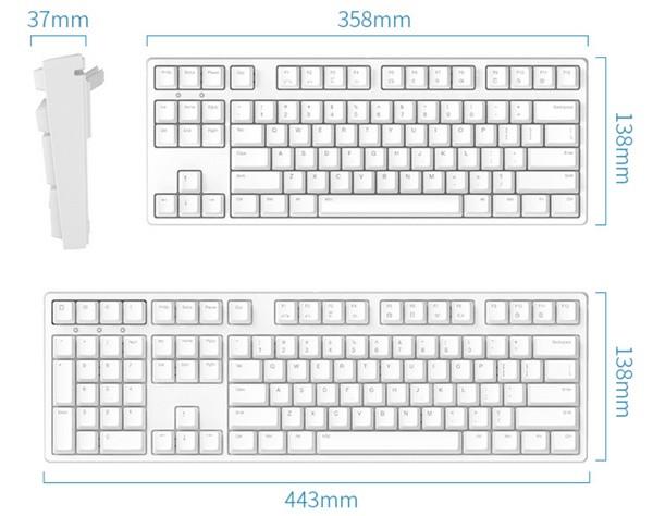 提供87和108两种键位,除了将方向键,功能区,小数字键盘等键位进行左置图片