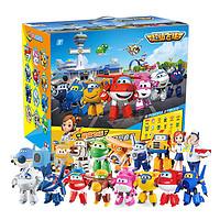 奥迪双钻乐迪超级飞侠大变形机器人总动员套装玩具大号全套18只装