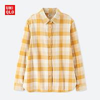 女装 法兰绒格子衬衫(长袖) 412262 优衣库UNIQLO