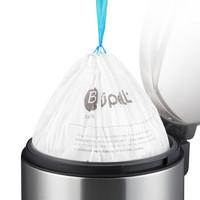 优百纳 手提束口垃圾袋 加厚抽带塑料袋自动收口中号 B系列 9L至15L适用 25个/卷