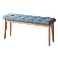 Heywood 全实木餐桌椅组合北欧 现代简约 小户型饭桌 多人长方形餐桌椅子带长凳 冰球长凳1000*360*460